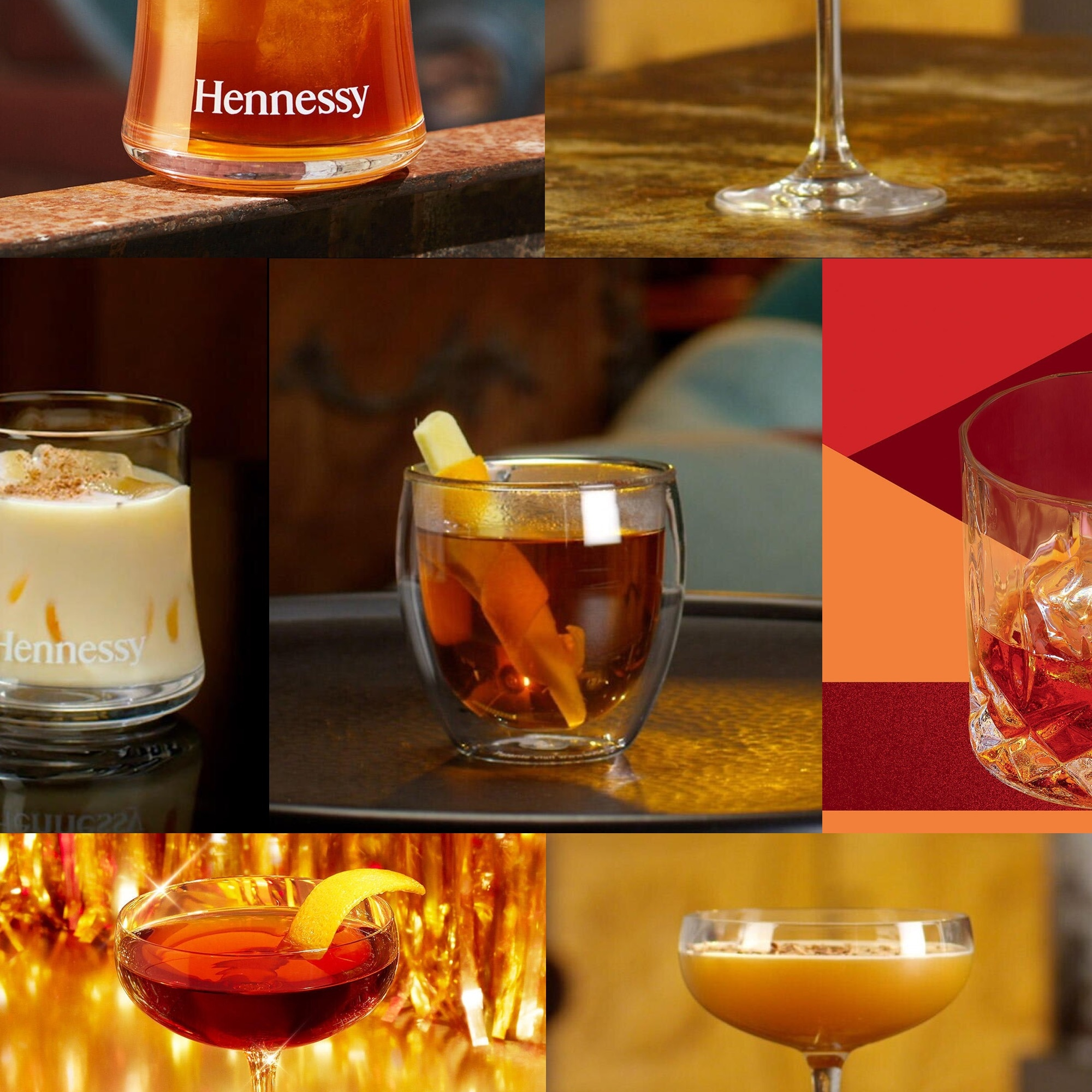 Cocktails for winter made with Hennessy Cognac